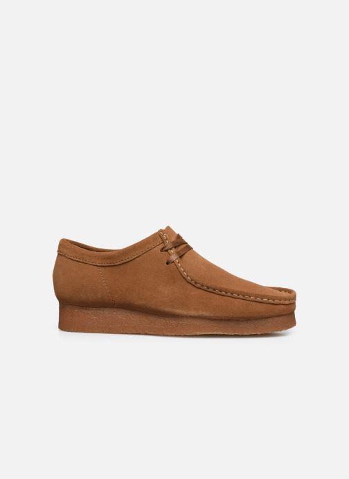 Chaussures à lacets Clarks Originals Wallabee Marron vue derrière