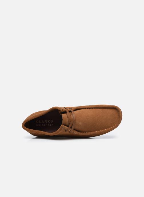 Chaussures à lacets Clarks Originals Wallabee Marron vue gauche