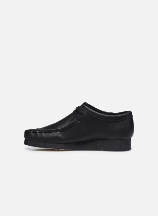 Zapatos con cordones Clarks Originals Wallabee Negro vista de frente