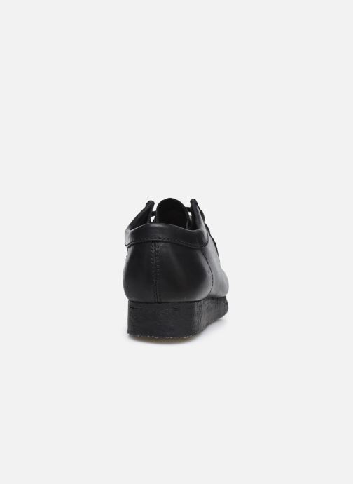 Zapatos con cordones Clarks Originals Wallabee Negro vista lateral derecha