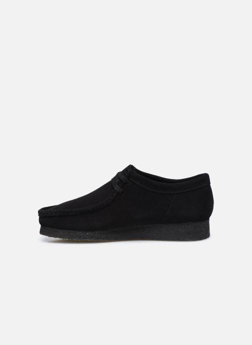 Zapatos con cordones Clarks Originals Wallabee Negro vista de frente