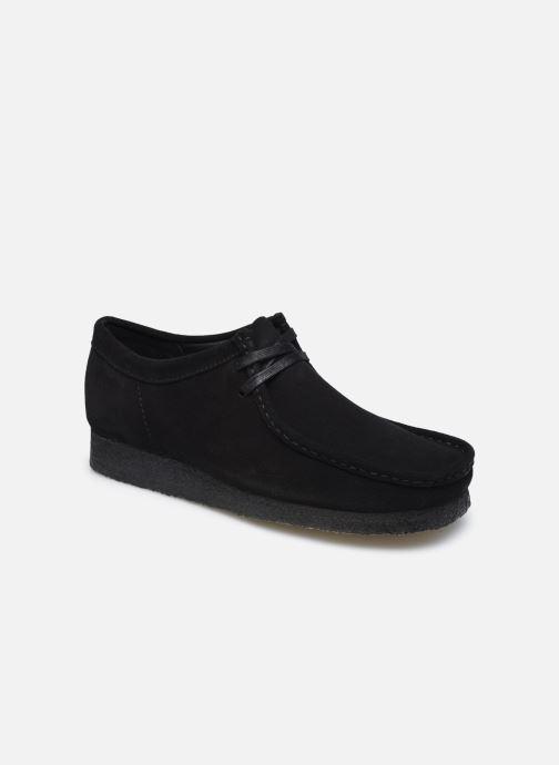 Zapatos con cordones Clarks Originals Wallabee Negro vista de detalle / par