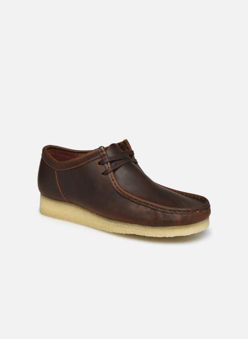 Chaussures à lacets Clarks Originals Wallabee Marron vue détail/paire
