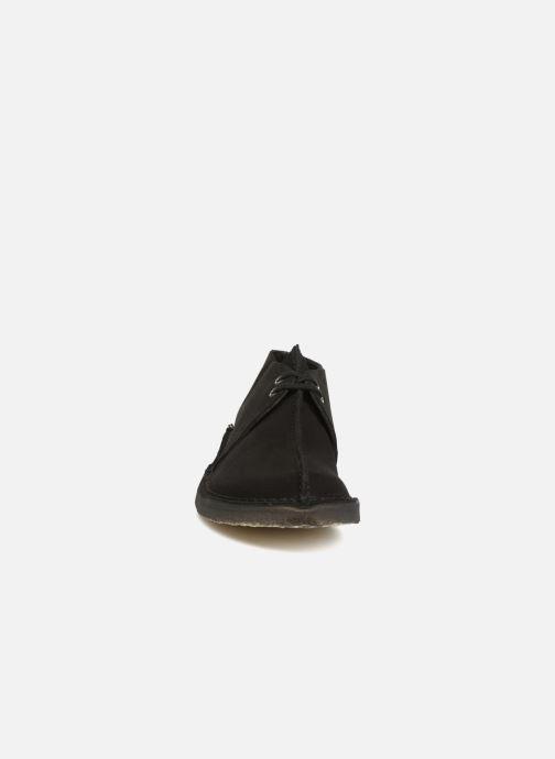 Schnürschuhe Clarks Originals Desert Trek  M schwarz schuhe getragen