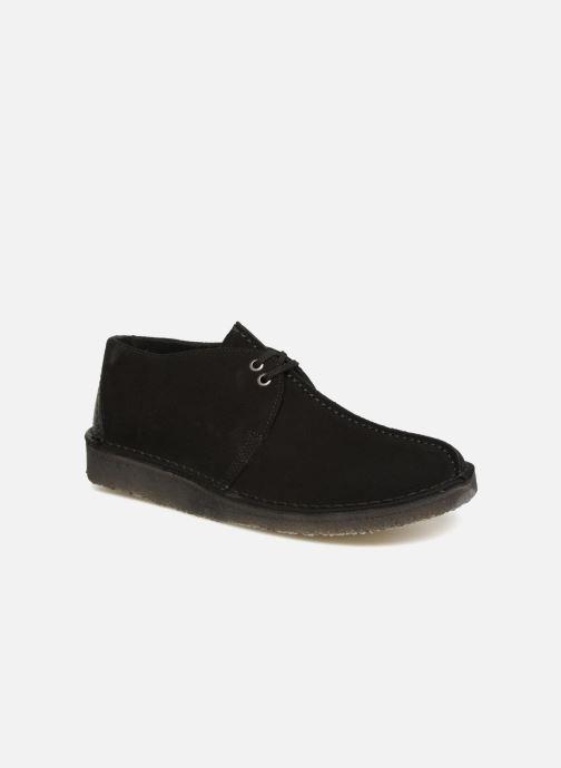 Chaussures à lacets Clarks Originals Desert Trek  M Noir vue détail/paire