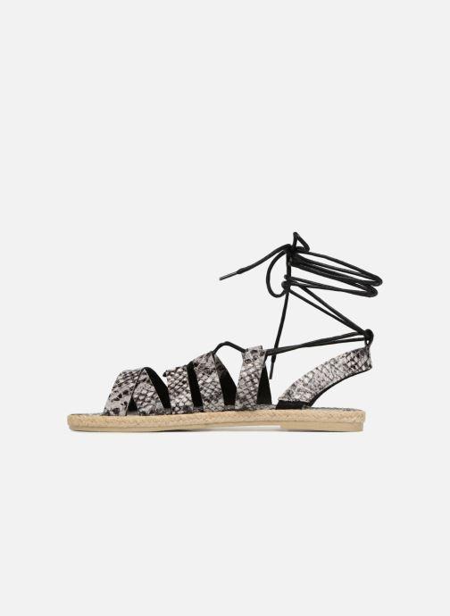 Sandales et nu-pieds Pieces Louisa Gris vue face