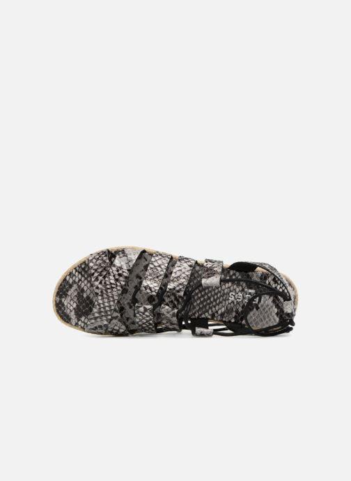 Sandalen Pieces Louisa Grijs links
