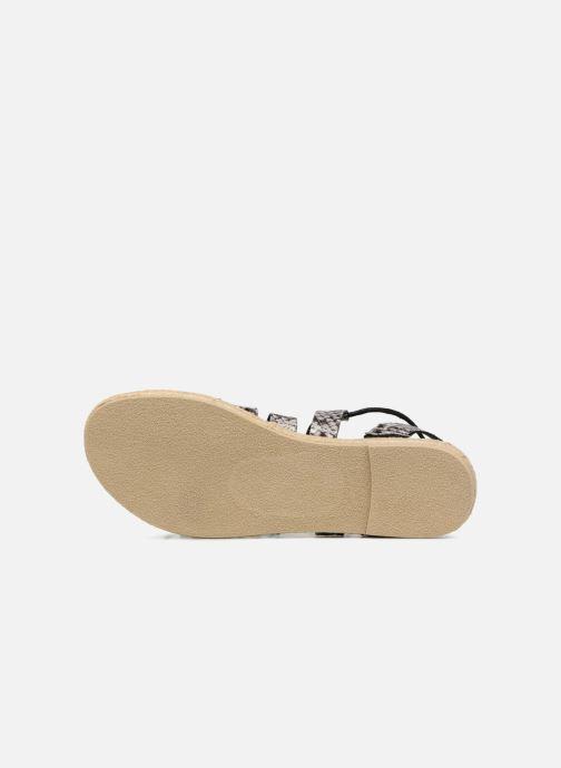 Sandales et nu-pieds Pieces Louisa Gris vue haut