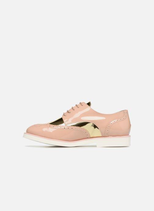 Zapatos con cordones COSMOPARIS ELA Beige vista de frente