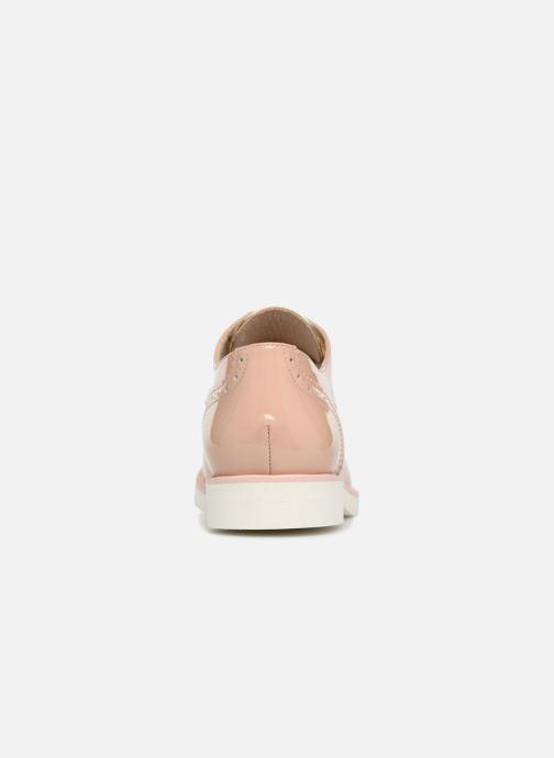 Zapatos con cordones COSMOPARIS ELA Beige vista lateral derecha