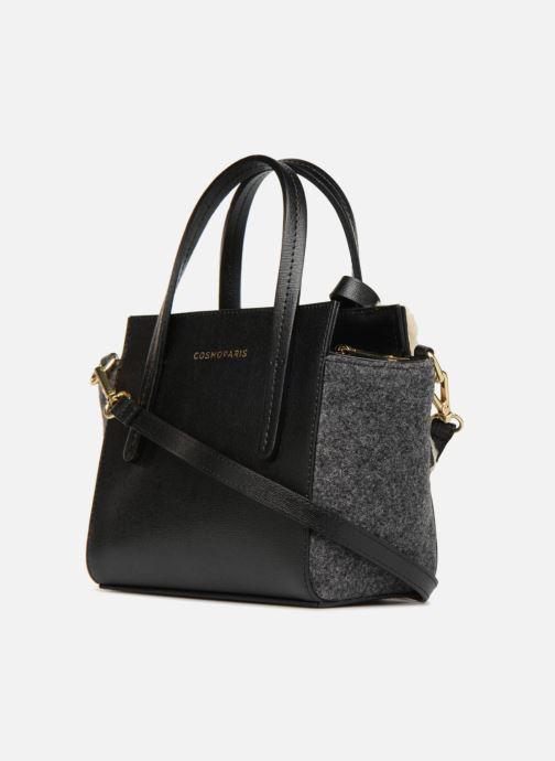 Handbags COSMOPARIS SAC-MEYA Grey view from the right