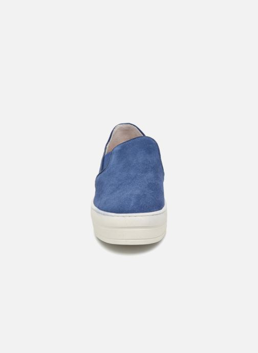 Sneakers Skechers UPLIFT HIGH SUEDECIETY Blå bild av skorna på
