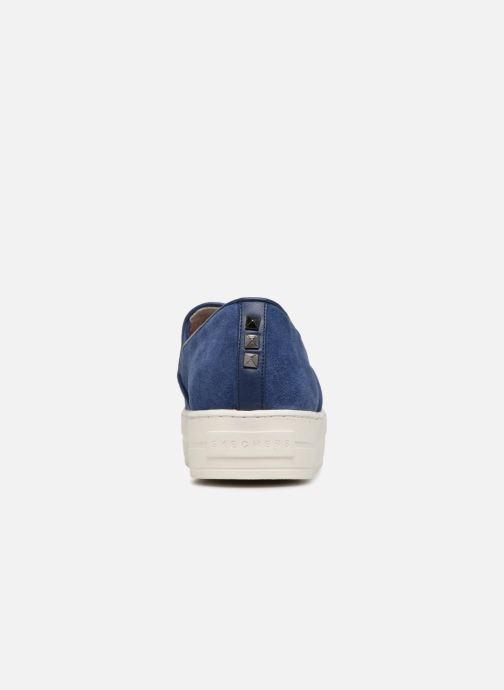 Sneakers Skechers UPLIFT HIGH SUEDECIETY Blå Bild från höger sidan