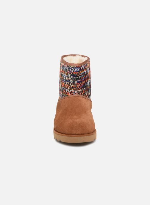 Bottines et boots Les Tropéziennes par M Belarbi Corail Marron vue portées chaussures