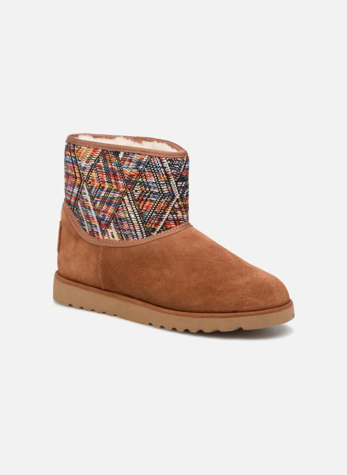 Bottines et boots Les Tropéziennes par M Belarbi Corail Marron vue détail/paire