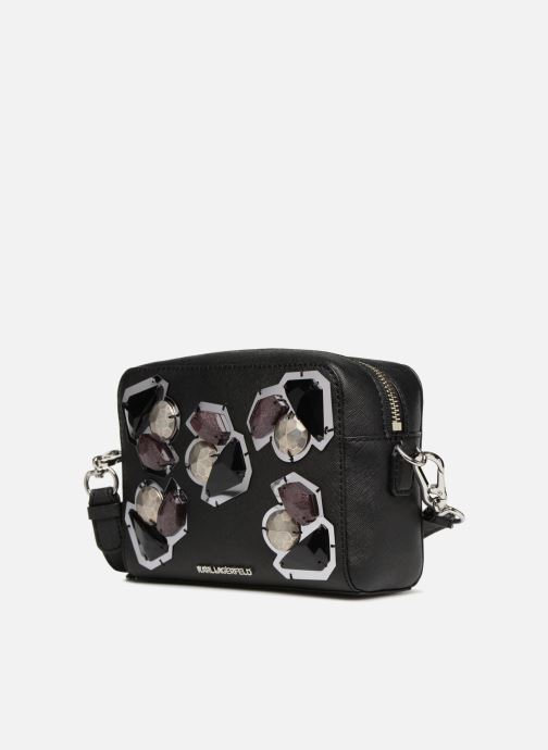 Bolsos de mano KARL LAGERFELD K/Klassic Diamonds Negro vista del modelo