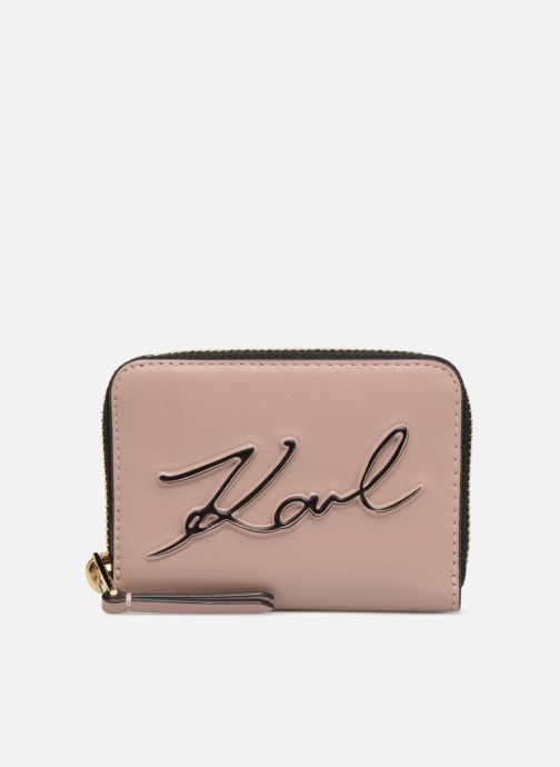 Petite Maroquinerie KARL LAGERFELD K/Signature Zippé Rose Poudré Rose vue détail/paire