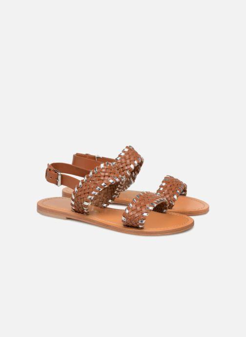 Sandales et nu-pieds Petite mendigote CAOUTCHOUC Marron vue 3/4