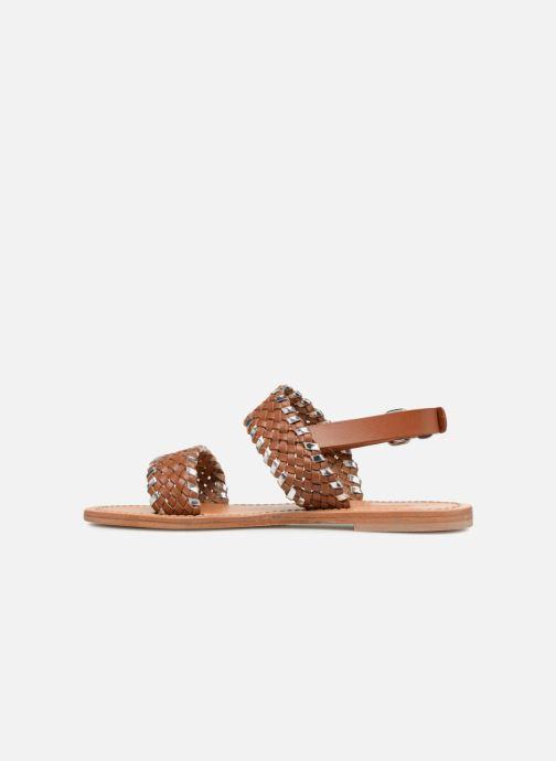 Sandales et nu-pieds Petite mendigote CAOUTCHOUC Marron vue face