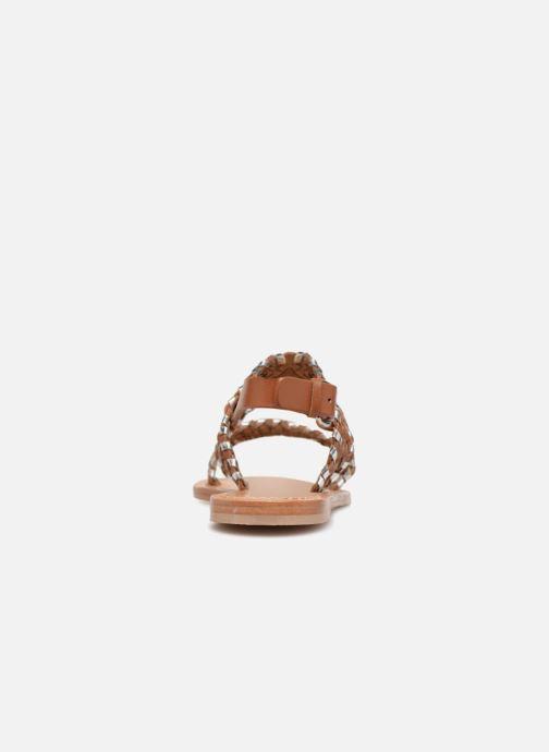 Sandales et nu-pieds Petite mendigote CAOUTCHOUC Marron vue droite