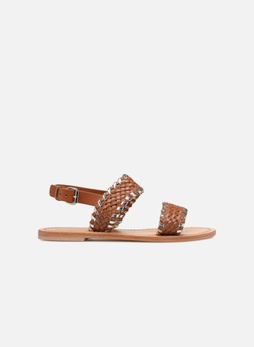 Sandales et nu-pieds Petite mendigote CAOUTCHOUC Marron vue derrière