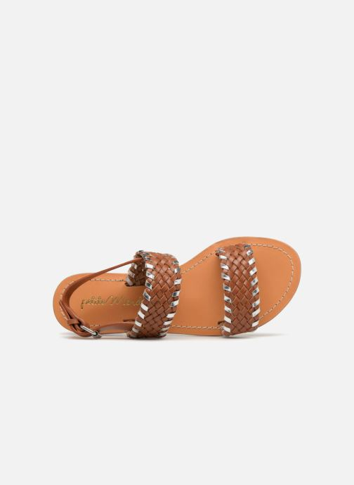 Sandales et nu-pieds Petite mendigote CAOUTCHOUC Marron vue gauche