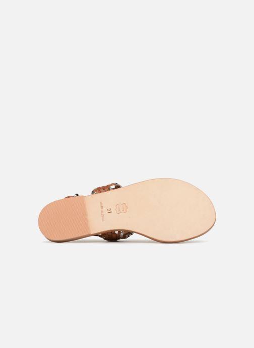 Sandales et nu-pieds Petite mendigote CAOUTCHOUC Marron vue haut