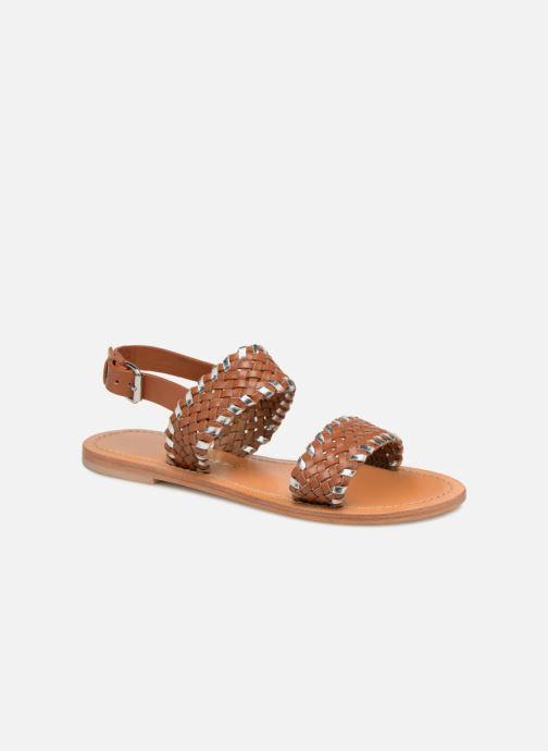 Sandales et nu-pieds Petite mendigote CAOUTCHOUC Marron vue détail/paire