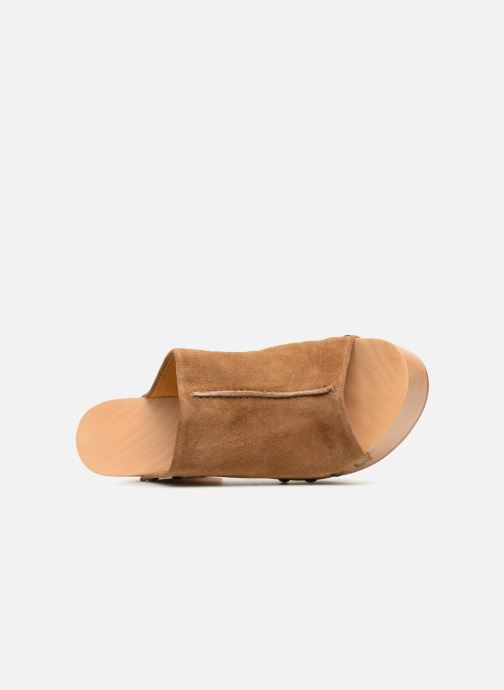 Wedges Veronique Branquinho Sabots à talon semi-ouvert Bruin links