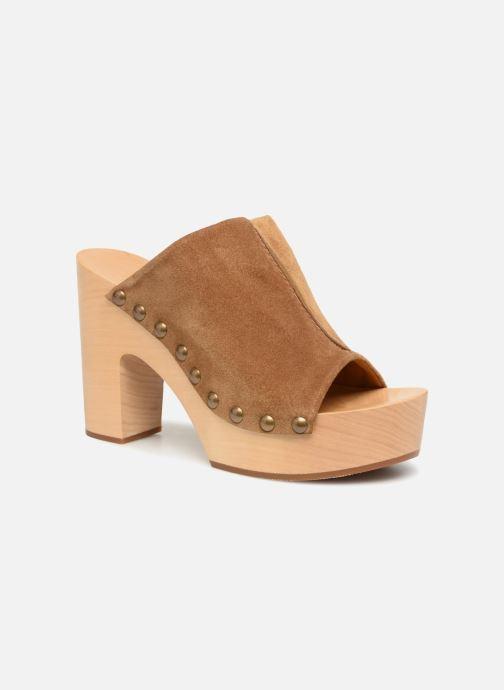 Wedges Veronique Branquinho Sabots à talon semi-ouvert Bruin detail
