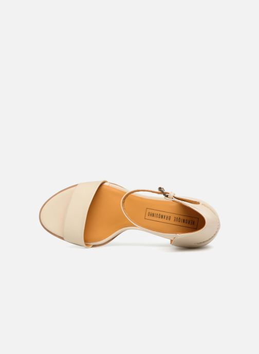 Sandales et nu-pieds Veronique Branquinho Sandales à petit talon Beige vue gauche