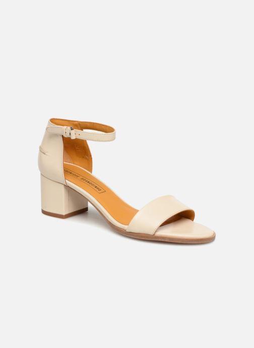 Sandales et nu-pieds Veronique Branquinho Sandales à petit talon Beige vue détail/paire