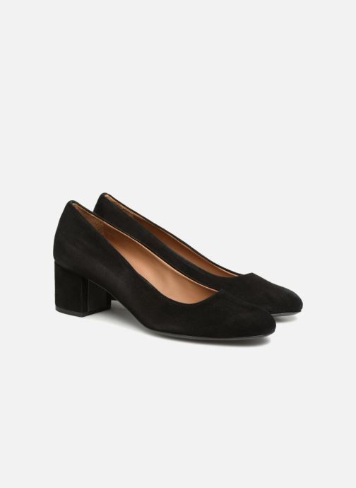 Pumps Veronique Branquinho Escarpins à petit talon épais Zwart 3/4'