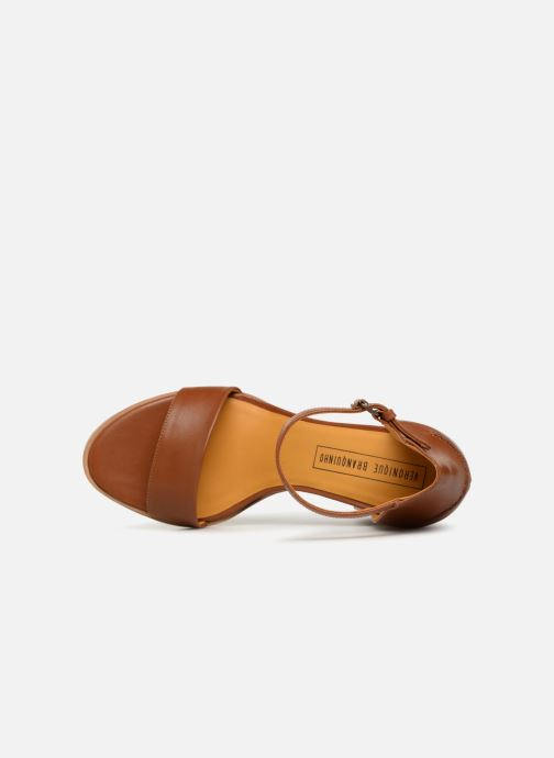 Sandales et nu-pieds Veronique Branquinho Sandales à talon Marron vue gauche