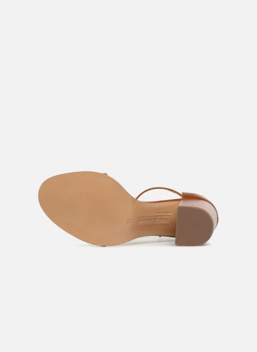 Sandales et nu-pieds Veronique Branquinho Sandales à talon Marron vue haut
