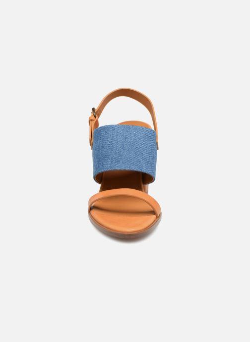 Sandals Veronique Branquinho Sandale à talon bold denim Brown model view