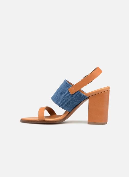 Sandalias Veronique Branquinho Sandale à talon bold denim Marrón vista de frente