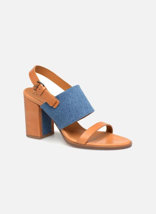 Sandales et nu-pieds Veronique Branquinho Sandale à talon bold denim Marron vue détail/paire