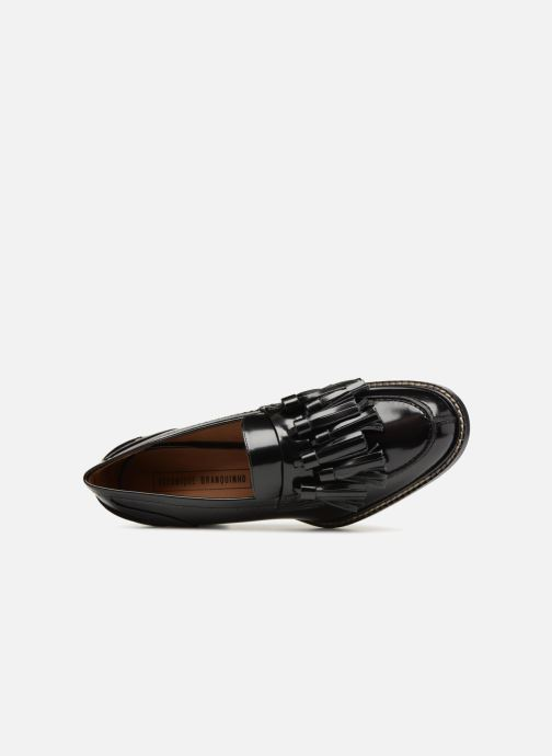Mocassins Veronique Branquinho Mocassins cuir noir Zwart links