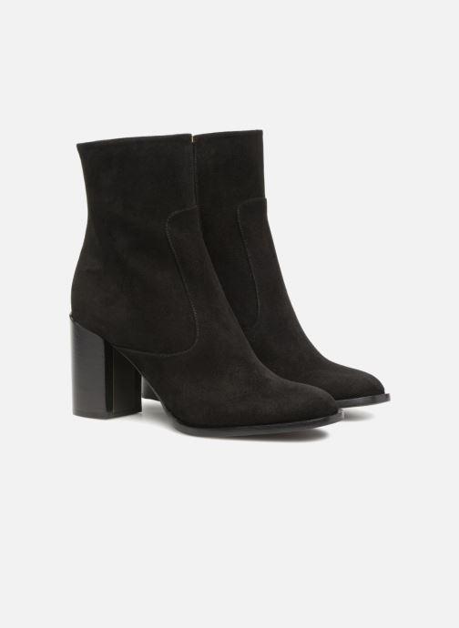 Boots en enkellaarsjes Veronique Branquinho Bottines talon bold Zwart 3/4'
