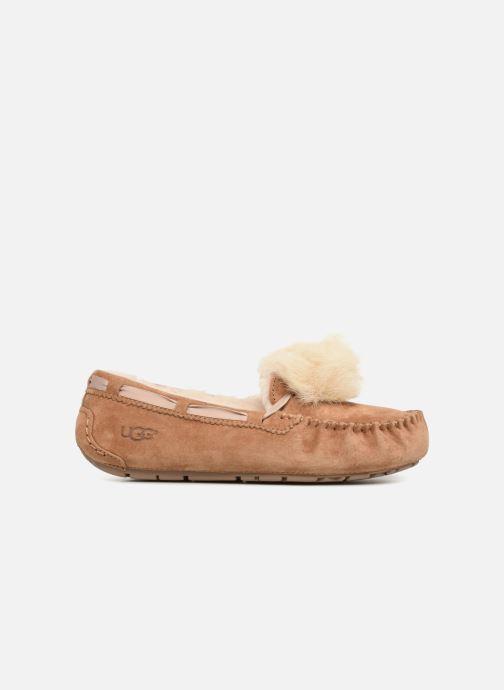 Pantofole UGG Dakota Pom Pom Marrone immagine posteriore
