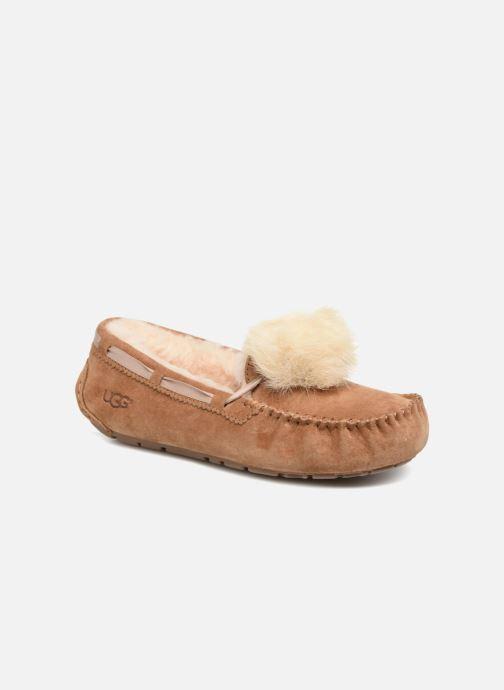 9e894a19e062 Hjemmesko UGG Dakota Pom Pom Brun detaljeret billede af skoene