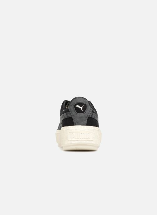 Trainers Puma Suede Platform Trace Jr Black view from the right