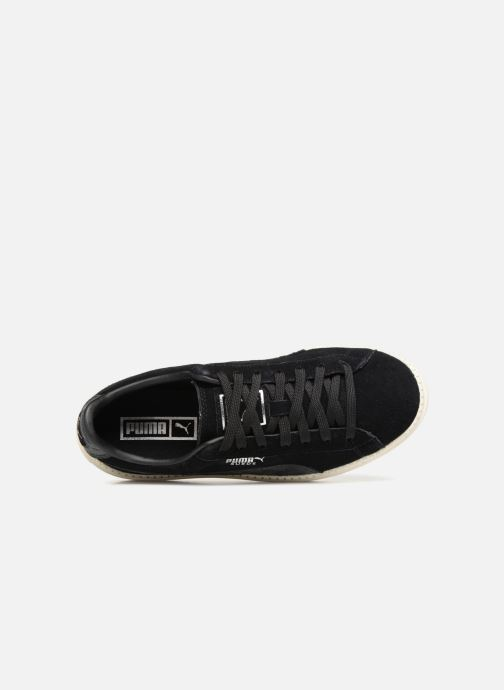 Trainers Puma Suede Platform Trace Jr Black view from the left