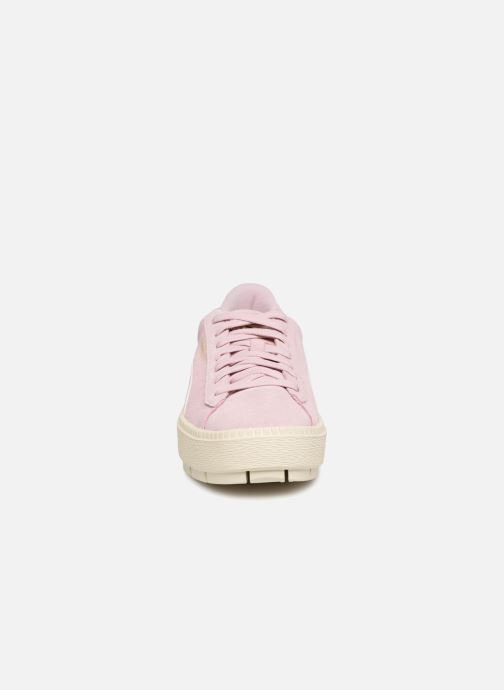 Trainers Puma Suede Platform Trace Jr Pink model view
