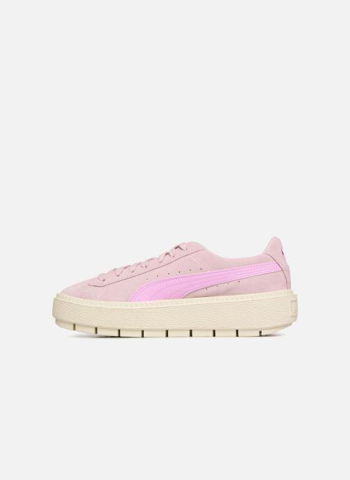 Sneaker Puma Suede Platform Trace Jr rosa ansicht von vorne