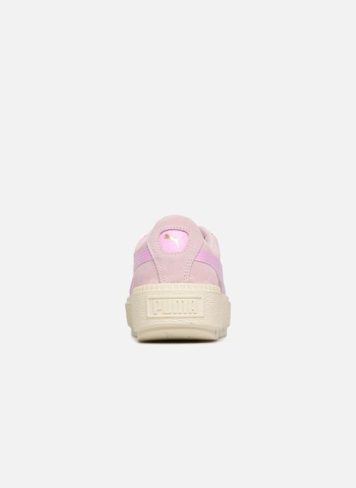Trainers Puma Suede Platform Trace Jr Pink view from the right