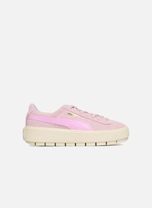 Sneaker Puma Suede Platform Trace Jr rosa ansicht von hinten