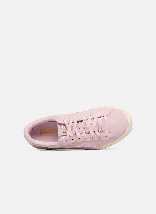Trainers Puma Suede Platform Trace Jr Pink view from the left
