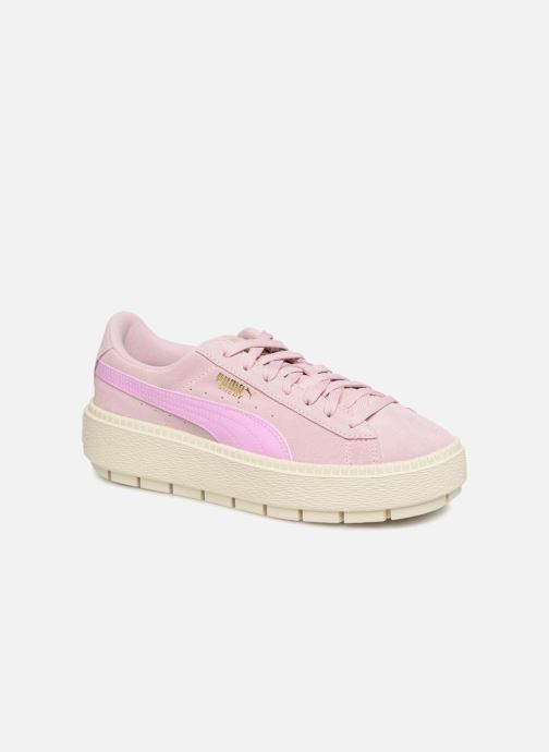 Trainers Puma Suede Platform Trace Jr Pink detailed view/ Pair view